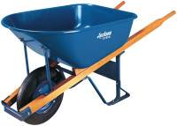 Jackson Steel Contractors Wheelbarrows, 6 cu ft, Flat-Free Smooth, B.B., Blue