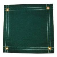 Protective Tarps, 12 ft Long, 10 ft Wide, Green Canvas