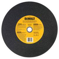Type 1 - Cutting Wheels, 14 in, 1 in Arbor, A24R, 4,400 rpm, General Purpose