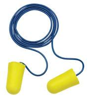 E-A-R TaperFit 2 Foam Earplugs, Polyurethane, Yellow, Corded, Regular