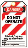 Heavy Duty Lockout Tags, 4.8 x 7 1/2 in, Danger, Do Not Operate
