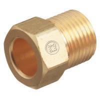 Inert Arc Nuts, Brass, Hex, B-Size, 5/8 in - 18, Inert Gas