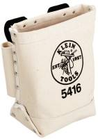 Bull-Pin and Bolt Bags, 3 Compartments, 10 in X 5 in, Canvas
