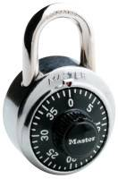 "No. 1500 Combination Padlocks, 9/32"" Dia, 3/4"" L X 13/16"" W, Silver/Black"
