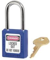No. 410 & 411 Lightweight Xenoy Safety Lockout Padlocks, Blue