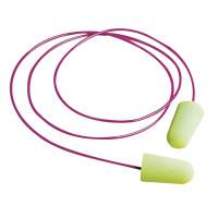 Pura-Fit Foam Earplugs, Foam, Bright Green, Corded