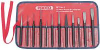 Punch & Chisel Sets, English, 8 Punches, 3 Chisels