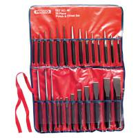 Punch & Chisel Sets, English, 17 Punches, 9 Chisels