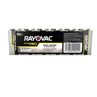 RAYOVAC HIGH ENERGY 9V 4-Pack Alkaline Batteries