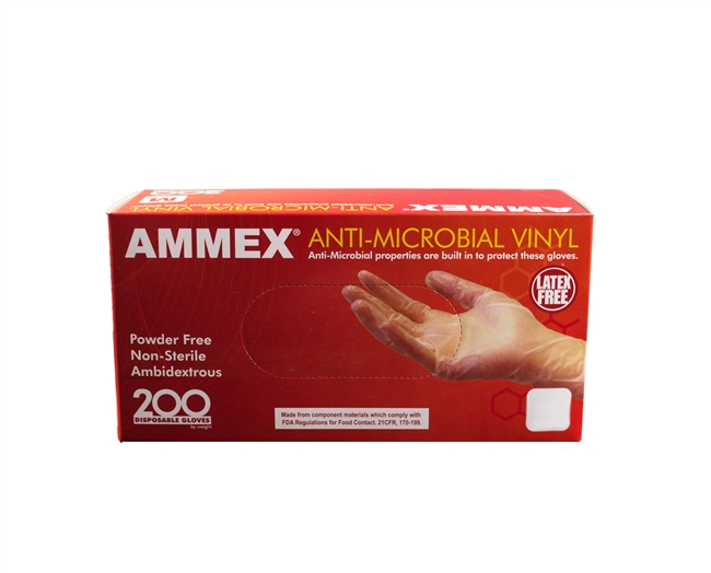 AMMEX Anti-Microbial Vinyl Powder Free [CASE]