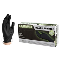 AMMEX Black Nitrile Powder Free Exam [CASE]