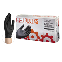 Gloveworks Black Nitrile Powder Free Glove [CASE]