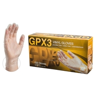 GPX3 Vinyl Gloves Powder Free Latex Free Ambidextrous [CASE]