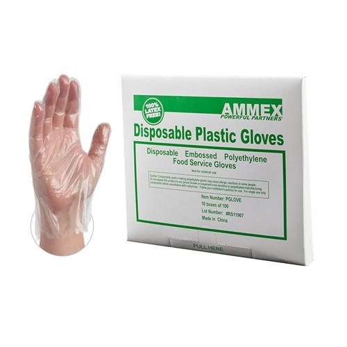 Disposable Food Service Poly Gloves [CASE]