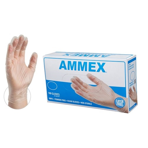 AMMEX Vinyl Powder Free Exam Gloves [CASE]