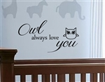 Owl always love you Vinyl Wall Art
