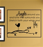 Angels around you Vinyl Wall Art