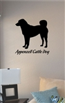 Appenzell Cattle Dog silhouette Vinyl Wall Art