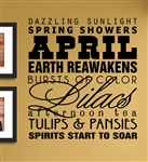 April dazzling sunlight Vinyl Wall Art