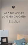 As is the mother so is her daughter Vinyl Wall Art