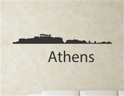 Athens Greece city skyline Vinyl Wall Art
