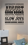 August lighthearted serenades Vinyl Wall Art