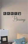 Baby blessings Vinyl Wall Art