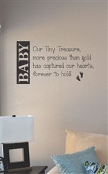 Baby our tiny treasure Vinyl Wall Art