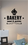 Bakery sweet and pastries Vinyl Wall Art