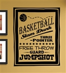Basketball slam dunk Vinyl Wall Art