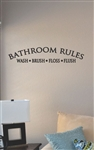 Bathroom rules style 2 Vinyl Wall Art
