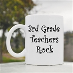 3rd Grade Teachers Rock Coffee Mug