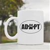 Adopt paw oval Coffee Mug