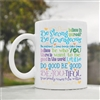 Be strong be courageous Coffee Mug