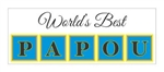 World's Best Papou Vinyl Decal Bumper Sticker