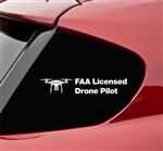 FAA Licensed Drone Pilot funny Vinyl Decal Sticker