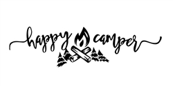 Happy Camper Camping Vinyl Decal Sticker