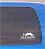 I mustache you a question but I'll shave it for later funny Vinyl Decal Sticker