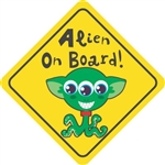 Alien On Board Vinyl Decal Sticker