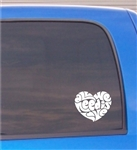 All We Need Is Love Heart Vinyl Decal Sticker