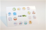 16pc Fashion 3D Home Button Stickers for Apple iPhone 5 4/4s 3GS 3G, iPad 2, iPad, iPad mini, iPad 3, iPad 4, itouch