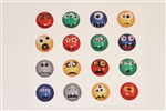 16pc Monster Faces Funny and Cute 3D Home Button Stickers for Apple iPhone 5 4/4s 3GS 3G, iPad 2, iPad, iPad mini, iPad 3, iPad 4, itouch