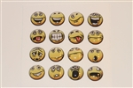 16pc Smiley Faces Style 2 3D Home Button Stickers for Apple iPhone 5 4/4s 3GS 3G, iPad 2, iPad, iPad mini, iPad 3, iPad 4, itouch