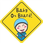 Baby on Board Kid Driving Vinyl Decal Sticker
