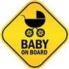 Baby On Board with Stroller Vinyl Decal Sticker