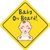 Baby on Board with Baby Vinyl Decal Sticker