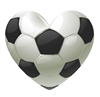 Soccer Ball Heart Vinyl Decal Sticker