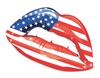 USA flag Lips Vinyl Decal Sticker