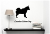 Canadian Eskimo silhouette Vinyl Wall Art Decal Sticker