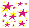 202 Peel and Stick Stars - Vinyl Wall Art Decal Sticker